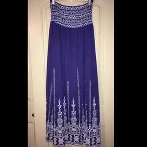 Strapless maxi dress!